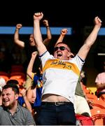 13 September 2020; Maghery Seán MacDiarmada supporters celebrate a score during the Armagh County Senior Football Championship Final match between Crossmaglen Rangers and Maghery Seán MacDiarmada at the Athletic Grounds in Armagh. Photo by David Fitzgerald/Sportsfile