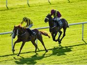 13 September 2020; Sonnyboyliston, left, with Billy Lee up, races clear of Finans Bay, with Niall McCullagh up, on their way to winning the Irish Stallion Farms EBF 'Northfields' Handicap during day two of The Longines Irish Champions Weekend at The Curragh Racecourse in Kildare. Photo by Seb Daly/Sportsfile