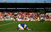 13 September 2020; Aidan Forker of Maghery Seán MacDiarmada collapses to the floor in joy following the Armagh County Senior Football Championship Final match between Crossmaglen Rangers and Maghery Seán MacDiarmada at the Athletic Grounds in Armagh. Photo by David Fitzgerald/Sportsfile
