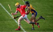 12 September 2020; Aaron Fitzgerald of Eire Óg in action against Cathal Malone of Sixmilebridge during the Clare County Senior Hurling Championship Semi-Final match between Sixmilebridge and Eire Óg at Cusack Park in Ennis, Clare. Photo by Ray McManus/Sportsfile