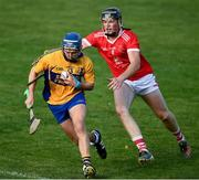 12 September 2020; Barry Corry of Sixmilebridge in action against Davy Mac of Eire Óg during the Clare County Senior Hurling Championship Semi-Final match between Sixmilebridge and Eire Óg at Cusack Park in Ennis, Clare. Photo by Ray McManus/Sportsfile