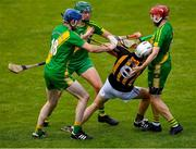 13 September 2020; Bryan Donnellan, right, Mike McGrath, 18, and Jacob Loughlane of O'Callaghan's Mills surround Jack Browne of Ballyea during the Clare County Senior Hurling Championship Semi-Final match between Ballyea and O'Callaghan's Mills at Cusack Park in Ennis, Clare. Photo by Ray McManus/Sportsfile