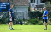 14 September 2020; Head coach Leo Cullen, left, and senior coach Stuart Lancaster during Leinster Rugby squad training at UCD in Dublin. Photo by Ramsey Cardy/Sportsfile