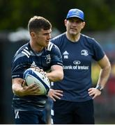 14 September 2020; Luke McGrath and Backs coach Felipe Contepomi during Leinster Rugby squad training at UCD in Dublin. Photo by Ramsey Cardy/Sportsfile
