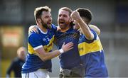 13 September 2020; Maghery Seán MacDiarmada players Eoin Scullion, left, and Oisin Cunahan celebrate following the Armagh County Senior Football Championship Final match between Crossmaglen Rangers and Maghery Seán MacDiarmada at the Athletic Grounds in Armagh. Photo by David Fitzgerald/Sportsfile