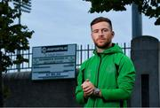 15 September 2020; Jack Byrne of Shamrock Rovers poses for a portrait following a Shamrock Rovers press conference at Tallaght Stadium in Dublin. Photo by Eóin Noonan/Sportsfile