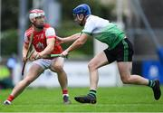 6 September 2020; Con O'Callaghan of Cuala in action against John Bellew of Lucan Sarsfields during the Dublin County Senior Hurling Championship Semi-Final match between Lucan Sarsfields and Cuala at Parnell Park in Dublin. Photo by Piaras Ó Mídheach/Sportsfile