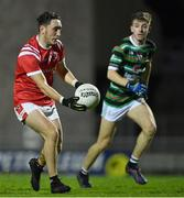 11 September 2020; Paudie Clifford of East Kerry gets past Jordan Conway of St Brendan's during the Kerry County Senior Football Championship Semi-Final match between East Kerry and St Brendan's at Austin Stack Park in Tralee, Kerry. Photo by Piaras Ó Mídheach/Sportsfile