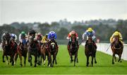 16 September 2020; A Step Too Far, second from right, with Adam Farragher up, on their way to winning the Irish Stallion Farms EBF Fillies Handicap at Cork Racecourse in Mallow. Photo by Seb Daly/Sportsfile