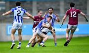 30 August 2020; Robbie McDaid of Ballyboden St Enda's in action against Brian Fenton of Raheny during the Dublin County Senior Football Championship Quarter-Final match between Ballyboden St Enda's and Raheny at Parnell Park in Dublin. Photo by Piaras Ó Mídheach/Sportsfile