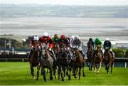 17 September 2020; A general view of runners and riders during the Doneraile Walk Maiden Hurdle Division One at Tramore Racecourse in Waterford. Photo by Harry Murphy/Sportsfile
