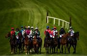17 September 2020; A general view of the field prior to the the Doneraile Walk Maiden Hurdle Division Two at Tramore Racecourse in Waterford. Photo by Harry Murphy/Sportsfile