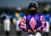 17 September 2020; Phillip Enright walks to the parade ring prior to the Dunmore East Handicap Hurdle at Tramore Racecourse in Waterford. Photo by Harry Murphy/Sportsfile