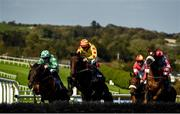 17 September 2020; Trans Wood, with Tiernan Roche up, centre, jump the eighth during the Brownstown Head Handicap Hurdle at Tramore Racecourse in Waterford. Photo by Harry Murphy/Sportsfile