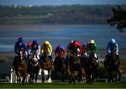 17 September 2020; A general view of runners and riders during the Irish Stallion Farms EBF Mares Flat Race at Tramore Racecourse in Waterford. Photo by Harry Murphy/Sportsfile