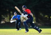 17 September 2020; Mark Adair of Northern Knights plays a shot during the Test Triangle Inter-Provincial 50- Over Series 2020 match between Leinster Lightning and Northern Knights at Comber in Down. Photo by Sam Barnes/Sportsfile