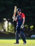 17 September 2020; Shane Getkate of Northern Knights acknowledges the crowd after making his half century during the Test Triangle Inter-Provincial 50- Over Series 2020 match between Leinster Lightning and Northern Knights at Comber in Down. Photo by Sam Barnes/Sportsfile