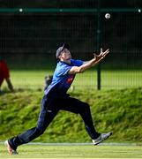 17 September 2020; Greg Ford of Leinster Lightning fields the ball during the Test Triangle Inter-Provincial 50- Over Series 2020 match between Leinster Lightning and Northern Knights at Comber in Down. Photo by Sam Barnes/Sportsfile