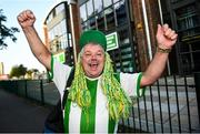 17 September 2020; Shamrock Rovers supporter Dermot Mooney ahead of the UEFA Europa League Second Qualifying Round match between Shamrock Rovers and AC Milan at Tallaght Stadium in Dublin. Photo by David Fitzgerald/Sportsfile