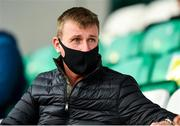 17 September 2020; Republic of Ireland manager Stephen Kenny during the UEFA Europa League Second Qualifying Round match between Shamrock Rovers and AC Milan at Tallaght Stadium in Dublin. Photo by Seb Daly/Sportsfile