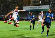 17 September 2020; Greg Sloggett of Dundalk has a shot on goal despite the attention of Emili Garcia of Inter Escaldes during the UEFA Europa League Second Qualifying Round match between Inter Escaldes and Dundalk at Estadi Comunal d'Andorra la Vella in Andorra. Photo by Manuel Blondeau/Sportsfile
