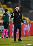 17 September 2020; Shamrock Rovers manager Stephen Bradley during the UEFA Europa League Second Qualifying Round match between Shamrock Rovers and AC Milan at Tallaght Stadium in Dublin. Photo by Seb Daly/Sportsfile