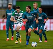 17 September 2020; Davide Calabria of AC Milan during the UEFA Europa League Second Qualifying Round match between Shamrock Rovers and AC Milan at Tallaght Stadium in Dublin. Photo by Stephen McCarthy/Sportsfile