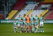 17 September 2020; The Shamrock Rovers team prior to the UEFA Europa League Second Qualifying Round match between Shamrock Rovers and AC Milan at Tallaght Stadium in Dublin. Photo by Stephen McCarthy/Sportsfile