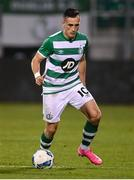 17 September 2020; Aaron McEneff of Shamrock Rovers during the UEFA Europa League Second Qualifying Round match between Shamrock Rovers and AC Milan at Tallaght Stadium in Dublin. Photo by Stephen McCarthy/Sportsfile