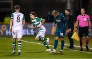 17 September 2020; Sean Kavanagh of Shamrock Rovers comes onto the pitch during a second half substitution during the UEFA Europa League Second Qualifying Round match between Shamrock Rovers and AC Milan at Tallaght Stadium in Dublin. Photo by Stephen McCarthy/Sportsfile