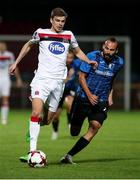 17 September 2020; Sean Gannon of Dundalk in action against Roca Grau of Inter Escaldes during the UEFA Europa League Second Qualifying Round match between Inter Escaldes and Dundalk at Estadi Comunal d'Andorra la Vella in Andorra. Photo by Manuel Blondeau/Sportsfile