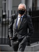 18 September 2020; Sport Ireland Chief Executive John Treacy on arrival at Dáil Éireann, in Dublin, for a meeting to discuss the pmpact of Covid-19 on sport in Ireland. Photo by Stephen McCarthy/Sportsfile