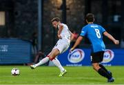 17 September 2020; Andy Boyle of Dundalk during the UEFA Europa League Second Qualifying Round match between Inter Escaldes and Dundalk at Estadi Comunal d'Andorra la Vella in Andorra. Photo by Manuel Blondeau/Sportsfile