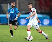 17 September 2020; Michael Duffy of Dundalk during the UEFA Europa League Second Qualifying Round match between Inter Escaldes and Dundalk at Estadi Comunal d'Andorra la Vella in Andorra. Photo by Manuel Blondeau/Sportsfile