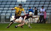 18 January 2020; Ja Mannion of Galway in action against Joe O'Connor of Wexford during the Walsh Cup Final between Wexford and Galway at MW Hire O'Moore Park in Portlaoise, Laois. Photo by Diarmuid Greene/Sportsfile