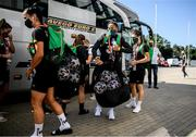 18 September 2020; Rianna Jarrett arrives with her team-mates for a Republic of Ireland women's training session at Stadion Essen in Essen, Germany. Photo by Lukas Schulze/Sportsfile