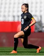 18 September 2020; Katie McCabe warms up during a Republic of Ireland women's training session at Stadion Essen in Essen, Germany. Photo by Lukas Schulze/Sportsfile