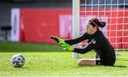 18 September 2020; Goalkeeper Marie Hourihan during a Republic of Ireland women's training session at Stadion Essen in Essen, Germany. Photo by Lukas Schulze/Sportsfile