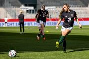 19 September 2020; Ellen Molloy of Republic of Ireland during the warm up at the UEFA Women's 2021 European Championships Qualifier Group I match between Germany and Republic of Ireland at Stadion Essen in Essen, Germany. Photo by Marcel Kusch/Sportsfile