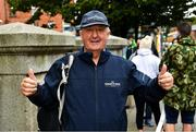 19 September 2020; Former international athlete Frank Greally, who fifty years ago set a 10,000 metres National Junior record of 30:17, at the finish of 'Gratitude Road', a walk from Ballyhaunis in Mayo, via the Coombe Women & Infants University Hospital, and back to The Old Coombe Hospital site on The Coombe in Dublin. Photo by Ray McManus/Sportsfile