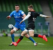 19 September 2020; Elliot Daly of Saracens and James Ryan of Leinster during the Heineken Champions Cup Quarter-Final match between Leinster and Saracens at the Aviva Stadium in Dublin. Photo by Ramsey Cardy/Sportsfile