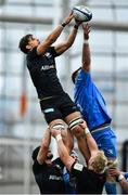 19 September 2020; Michael Rhodes of Saracens and James Ryan of Leinster contest a line-out during the Heineken Champions Cup Quarter-Final match between Leinster and Saracens at the Aviva Stadium in Dublin. Photo by Brendan Moran/Sportsfile