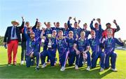 19 September 2020; The YMCA team celebrate with the cup following the All-Ireland T20 Cup Final match between YMCA and Donemana at CIYMS Cricket Club in Belfast. Photo by Sam Barnes/Sportsfile