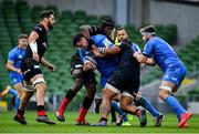 19 September 2020; James Ryan of Leinster is tackled by Maro Itoje of Saracens during the Heineken Champions Cup Quarter-Final match between Leinster and Saracens at the Aviva Stadium in Dublin. Photo by Brendan Moran/Sportsfile