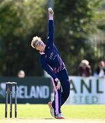 19 September 2020; Cillian McDonnell of YMCA bowls during the All-Ireland T20 Cup Final match between YMCA and Donemana at CIYMS Cricket Club in Belfast. Photo by Sam Barnes/Sportsfile