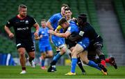 19 September 2020; Garry Ringrose of Leinster is tackled by Maro Itoje of Saracens during the Heineken Champions Cup Quarter-Final match between Leinster and Saracens at Aviva Stadium in Dublin. Photo by Brendan Moran/Sportsfile