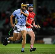 19 September 2020; Thomas Grimes of Na Piarsaigh in action against Chris Thomas of Doon during the Limerick County Senior Hurling Championship Final match between Doon and Na Piarsaigh at LIT Gaelic Grounds in Limerick. Photo by Matt Browne/Sportsfile