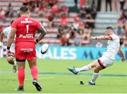 20 September 2020; John Cooney of Ulster kicks a penalty during the Heineken Champions Cup Quarter-Final match between Toulouse and Ulster at Stade Ernest Wallon in Toulouse, France. Photo by Manuel Blondeau/Sportsfile