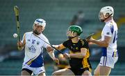 20 September 2020; Luke Chester, left, and Brian Lonergan of Tralee Parnells in action against Patrick Crehan of Dr Crokes during the Kerry County Intermediate Hurling Championship Final match between Dr Crokes and Tralee Parnell's at Austin Stack Park in Tralee, Kerry. Photo by David Fitzgerald/Sportsfile