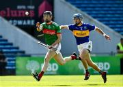 20 September 2020; Joesph Nyland of Loughmore-Castleiney in action against Fergie Hayes of Kiladangan during the Tipperary County Senior Hurling Championship Final match between Kiladangan and Loughmore-Castleiney at Semple Stadium in Thurles, Tipperary. Photo by Ray McManus/Sportsfile